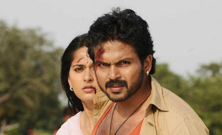 Karthik And Anushka Injured Still  From Movie Bad Boys