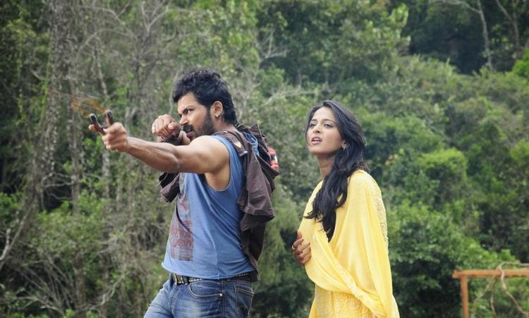 Karthik And Anushka Photo Still In Jungle From Movie Bad Boys