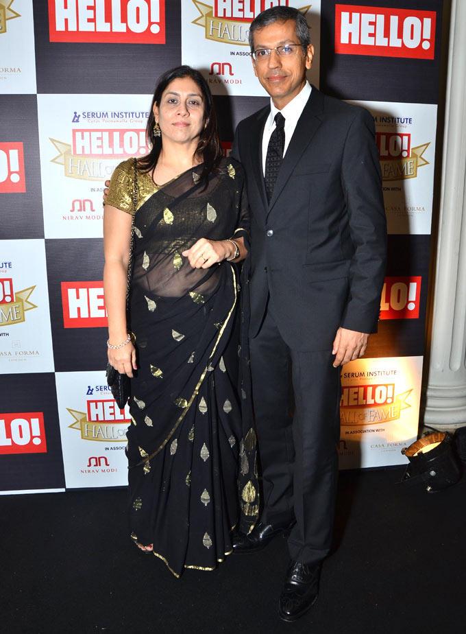 Tarun And Ritu Rai Snapped At Hello Hall Of Fame Awards 2012
