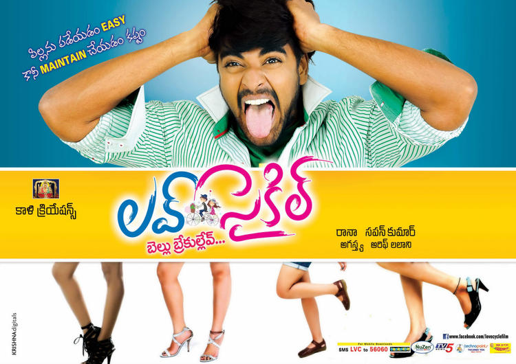 Srinivas Nice Expression Photo For Love Cycle Wallpaper