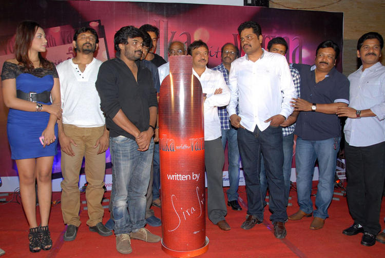 Ram,Harish,Madhu,Puri Jagannath And Others Are Posed At Vodka With Varma Book Launch