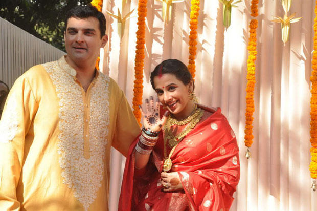 Vidya And Siddharth Meet Media At Their Wedding Ceremony