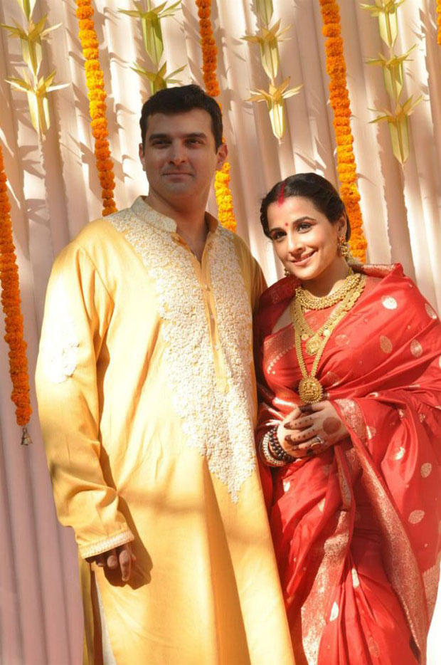 Vidya And Siddharth Smiling Still At Their Wedding Ceremony