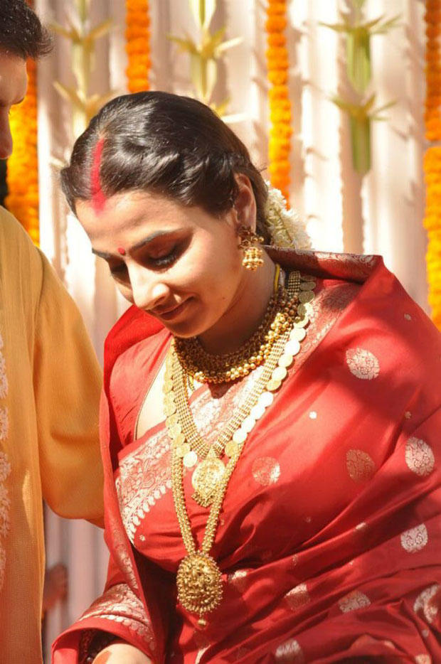Vidya Balan In Wedding Saree Gorgeous Look Still