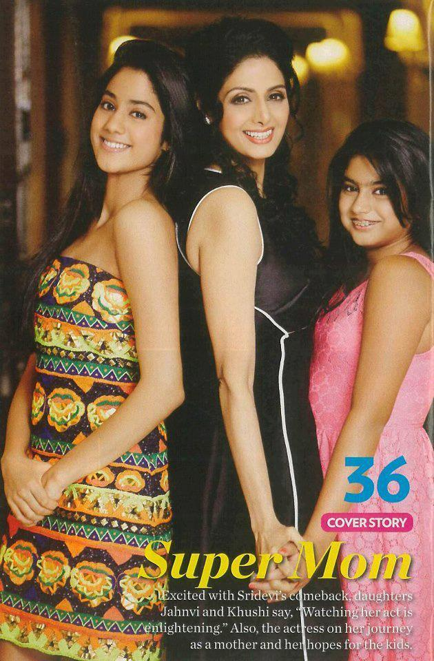Sridevi With Daughters Jhanvi And Khushi Looked Fabulous On People Magazine