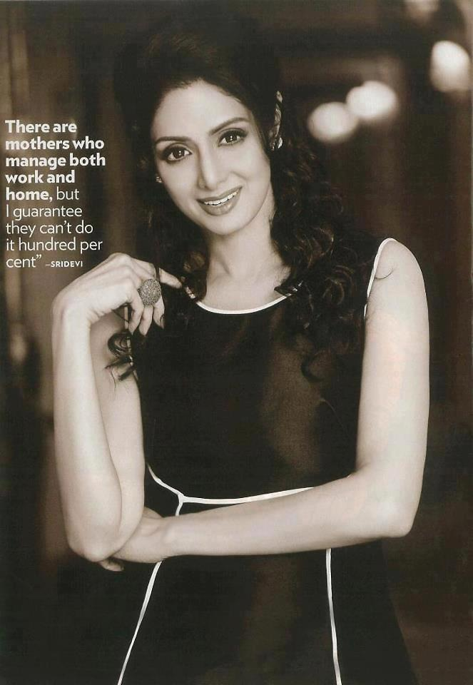 Sridevi Looked Ravishing In A Black Ensemble Photo For People Magazine