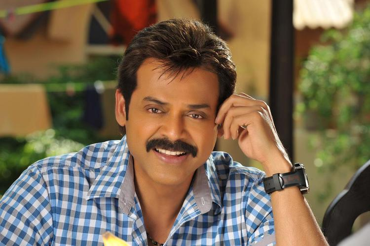 Venkatesh Cute Smiling Still From Telugu Movie SVSC