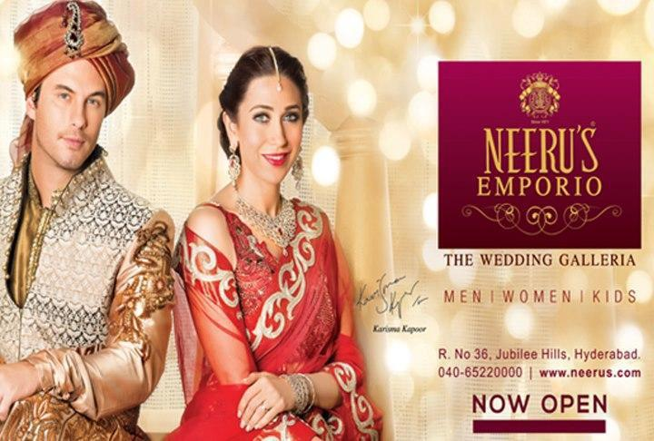 Karisma Ravishing Look Photo Shoot  In A Red Ensemble For Neeru Emporio Wedding Collection