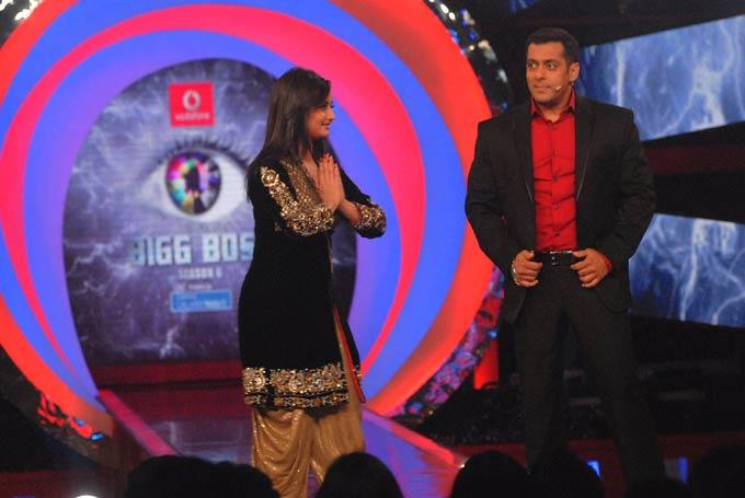 Rashmi Visits On The Sets Of Bigg Boss 6