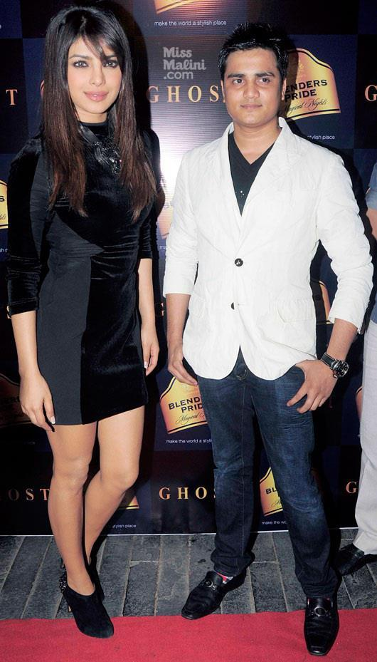 Priyanka With Ankit At Ghost Club For Promote Her First Single In My City