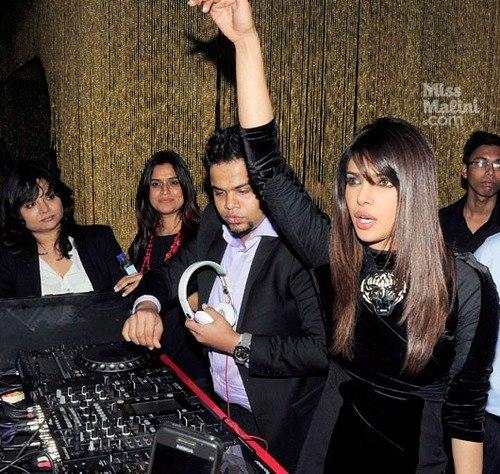 Priyanka At Ghost Club For Promote Her First Single In My City
