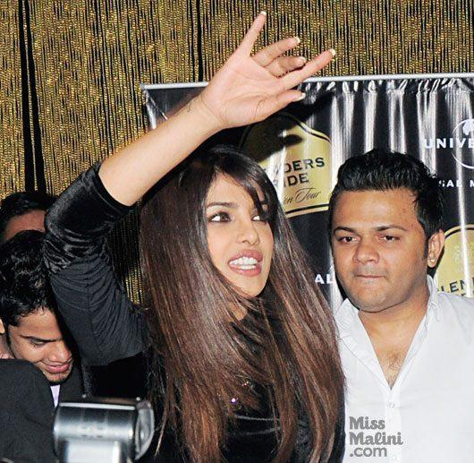 Priyanka Greets Her Fans At Ghost Club For Promote Her First Single In My City