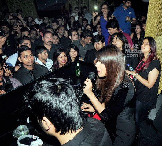 Priyanka Promotes Her First Single In My City At Ghost Club