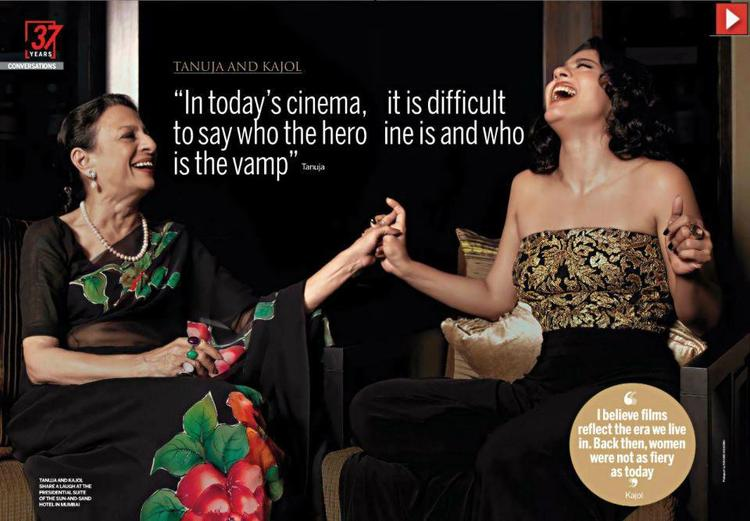 Kajol With Mom Tanuja Smiling Photo Shoot For India Today