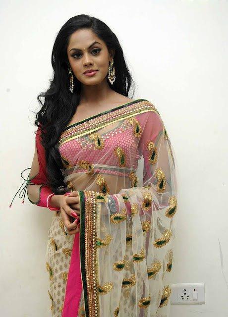 Karthika Nair Looked Ravishing In A Transparent Saree