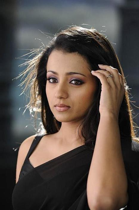 Trisha Radiant And Beautiful Photo Shoot In Black Saree