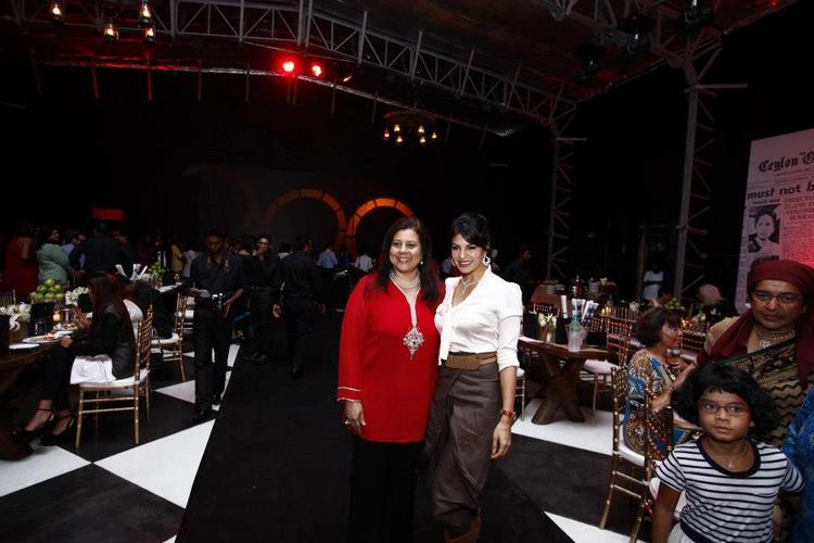 Jacqueline With A Friend Photo Clicked At The Launch Of Perpetual Grace