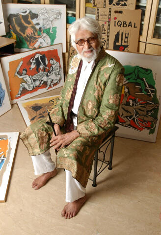 M.F.Hussain Died In  London On June 9, 2011