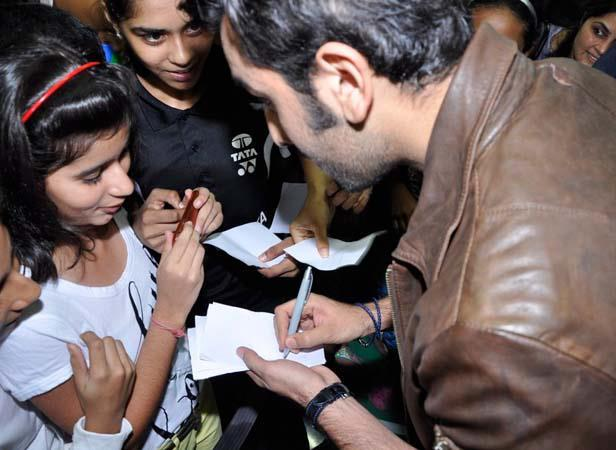 Ranbir Snapped During Autograph To Fans At Tata Open Championship