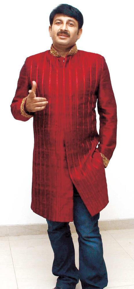 Manoj Tiwari Spotted At Uttar Bhartiya Sangh's 63rd Foundation Day