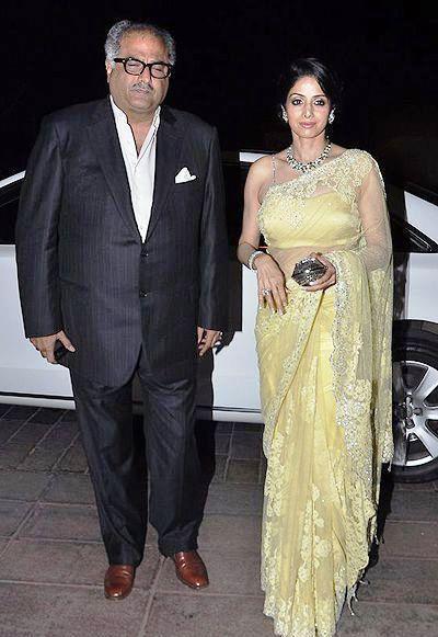 Boney With Wife Sridevi During The Abhinav And Ashima Shukla Wedding Reception