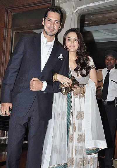 Dino With Preity Posed For Camera At Abhinav And Ashima Shukla Wedding Reception