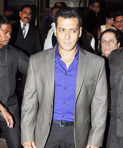 Salman Khan Dapper Look At Abhinav And Ashima Shukla Wedding Reception