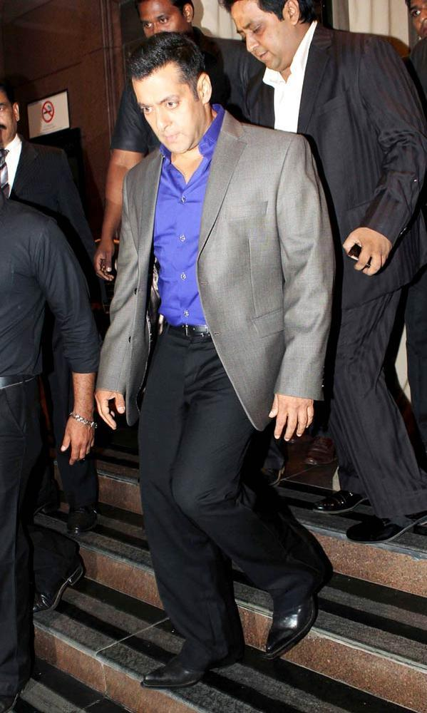 Salman Khan Walks On At Abhinav And Ashima Shukla Wedding Reception