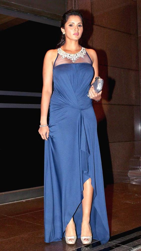 Sania Mirza Glamour Look Pic At Abhinav And Ashima Shukla Wedding Reception