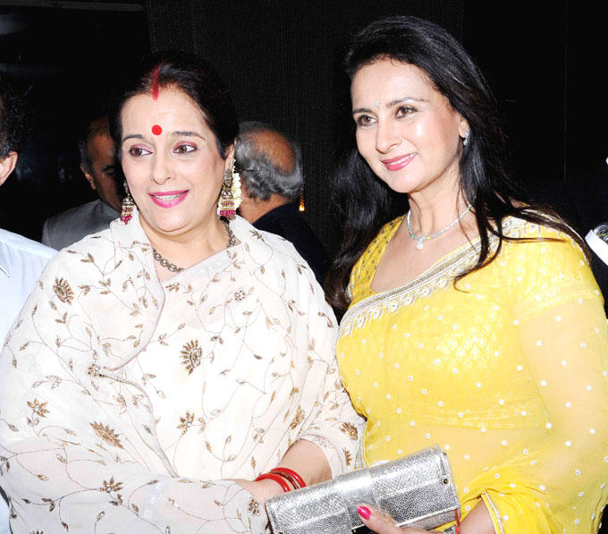Poonam With Poonam Dhillon Clicked At Shatrughan Sinha's Dinner For Doctors Of Ambani Hospital