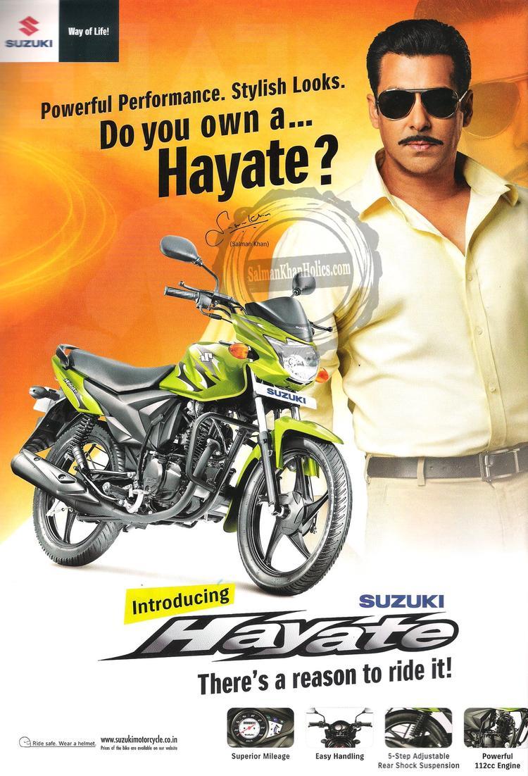 Salman Khan As Chulbul Pandey In Suzuki Hayate TVC Ad