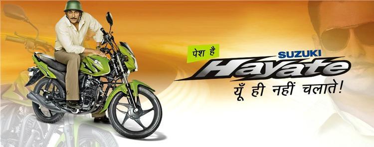 Salman Khan Riding Still On Suzuki Hayate Ad