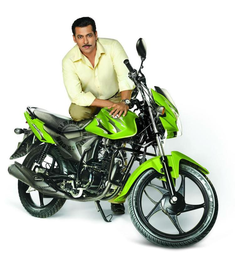 Salman Khan Shoot For Suzuki Hayate Print Ad