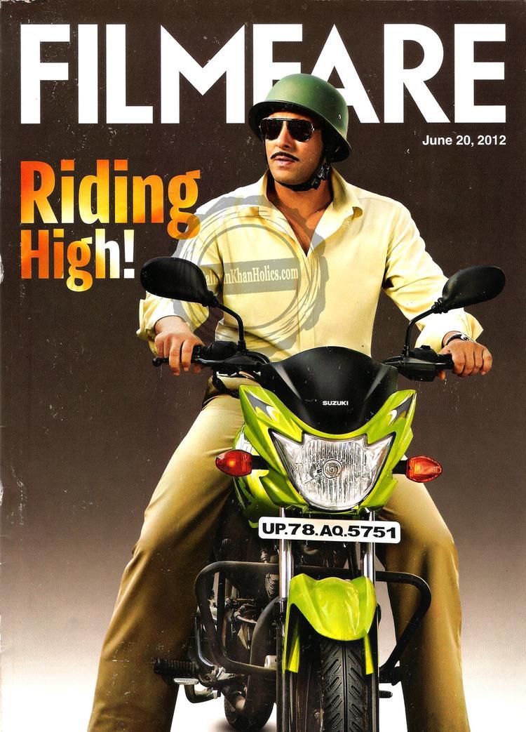 Salman Khan With Suzuki Hayate On The Cover of Filmfare Magazine