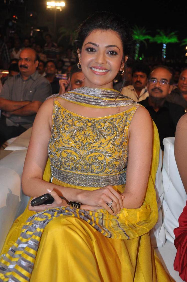Kajal Agarwal Glamour Still At Naayak Audio Release Function