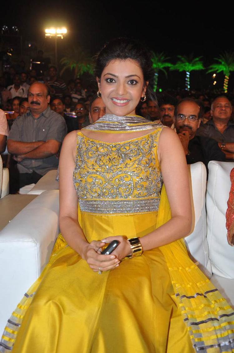 Kajal Agarwal Looked Radiant And Beautiful Still At Naayak Audio Release Function