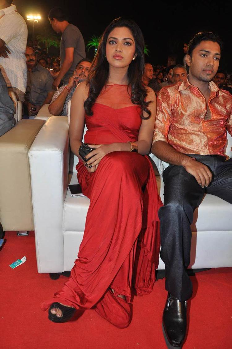 Amala Paul On Audience Seat Photo Clicked At Naayak Audio Release Function