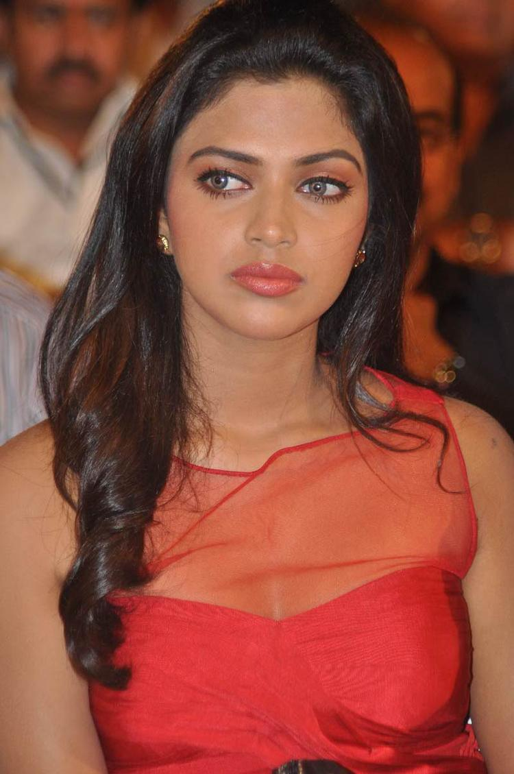 Amala Paul Completed Her Look With Flowing Hair Still At Naayak Audio Release Function