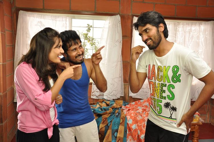 Sindhu And Aneesh Acting Still From Movie Coffee With My Wife