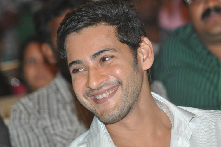 Mahesh Babu Dashing Look In White At SVSC Audio Release Function