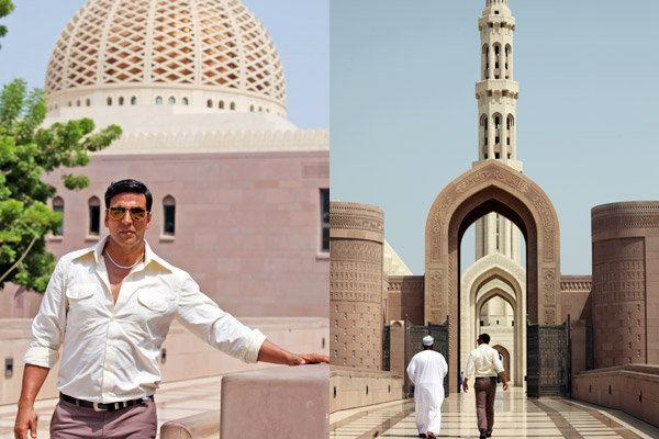 Akshay At The Famous Sultan Qaboos Grand Mosque In Muscat On The Sets Of Once Upon A Time In Mumbai 2