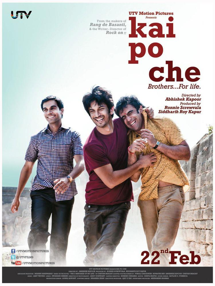 Sushant,Raj And Amit Cool Smiling Photo In Kai Po Che! Movie Poster