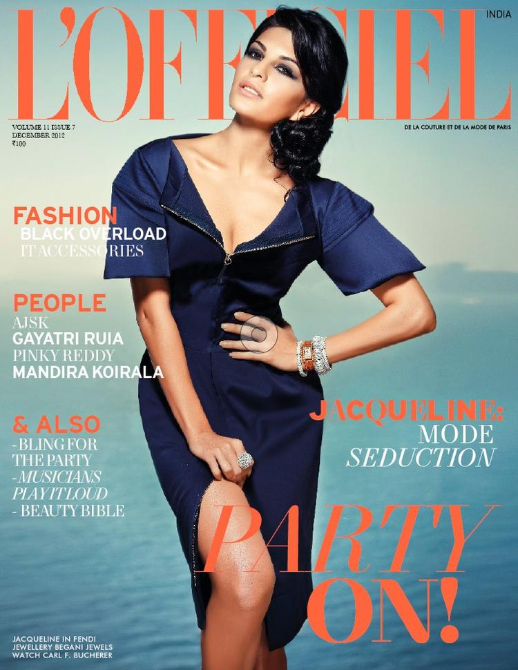 Jacqueline Fernandez On The Cover Of L'Officiel India December 2012