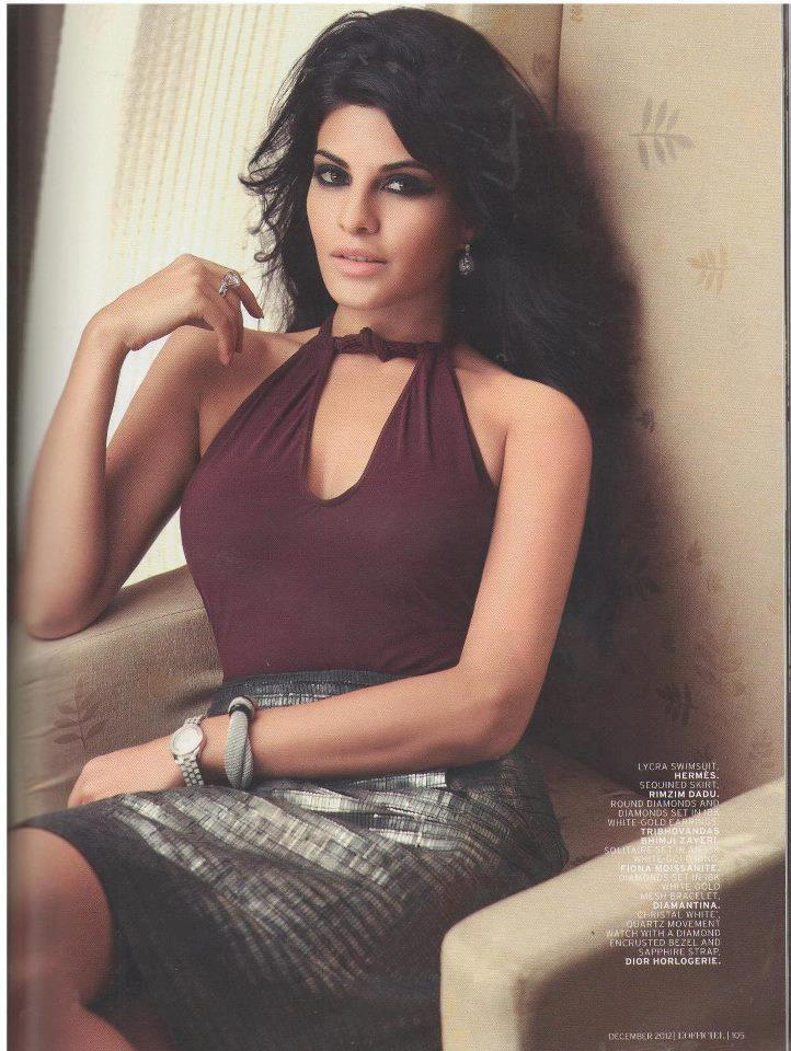 Jacqueline Spicy Look Photo Shoot For L'Officiel India December 2012