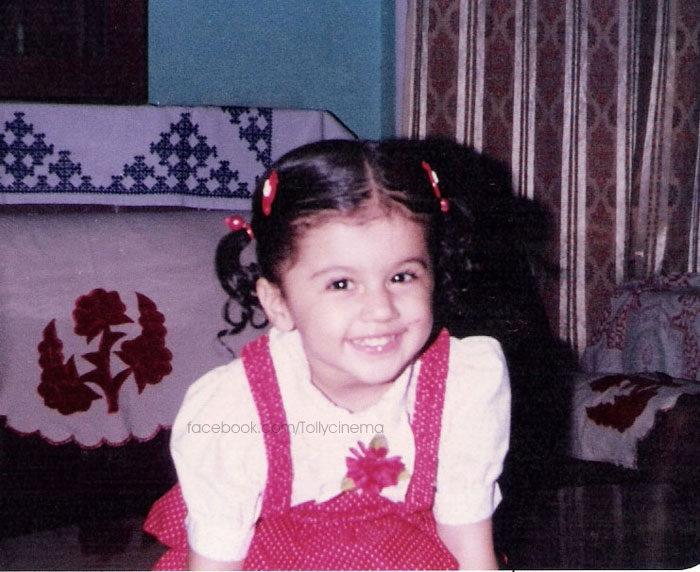 Taapsee Nice Look With Cute Smiling Still In Childhood