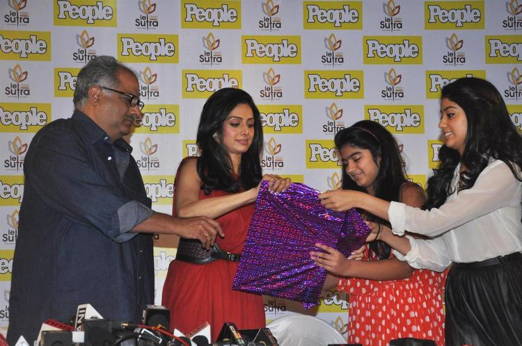 Boney With Wife Sridevi And Daughter Khushi And Jhanvi Unveil The People Magazine