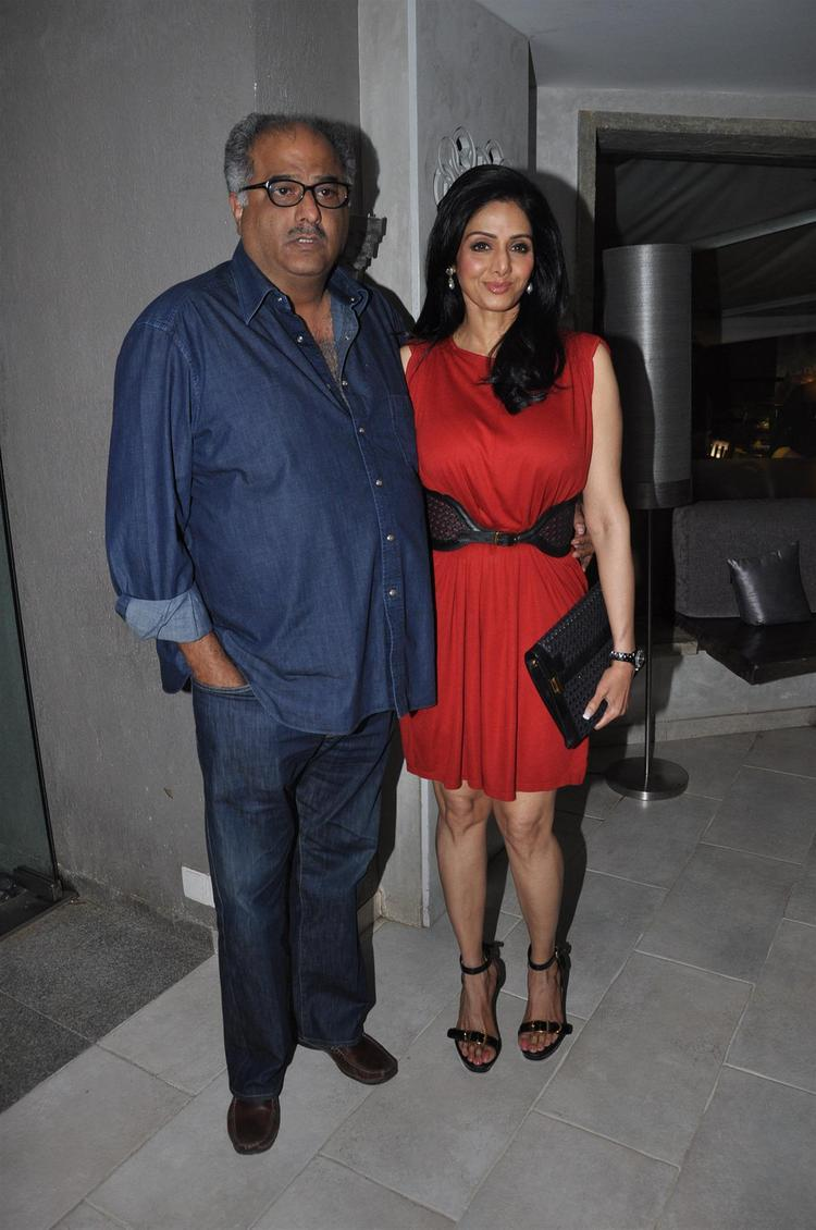 Boney With Wife Sridevi Pose For Camera At People Magazine Cover Launch