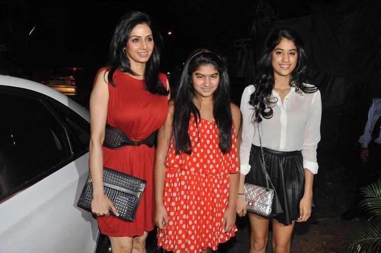 Sridevi With Daughter Khushi And Jhanvi Spotted At People Magazine Cover Launch