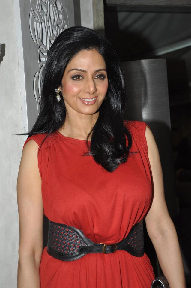 Sridevi Kapoor Looked Stunning In A Red DressAt People Magazine Cover Launch