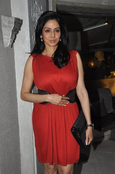 Sridevi Looked Gorgeous In A Red Ensable At People Magazine Cover Launch